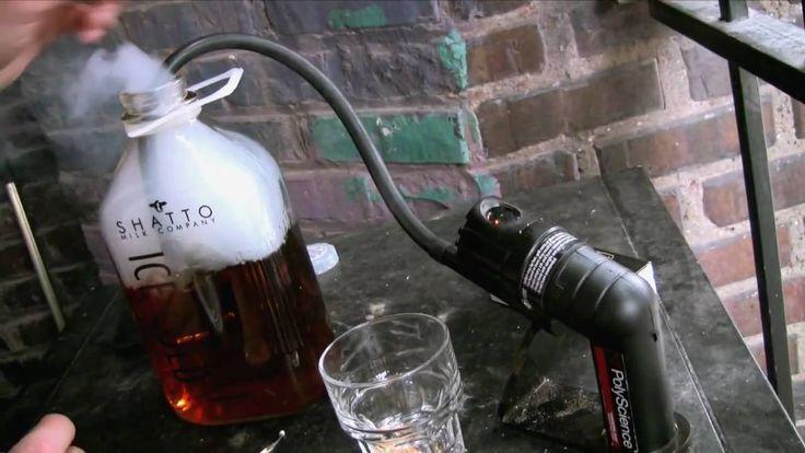 Smoking Four Roses Bourbon at Manifesto, in KC