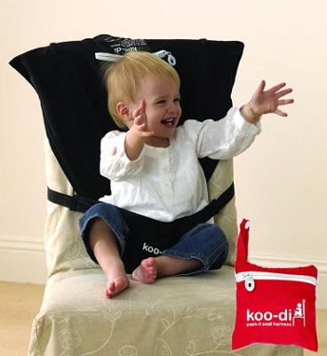 Koo-Di Pack-It Seat Harness Black