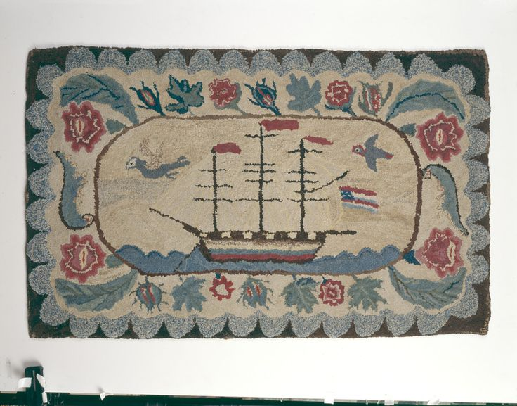 Hooked Rug Floor Covering 1949 1019 Historic New England