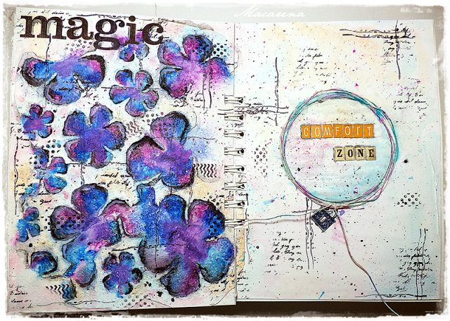 Out of Comfort Zone - Art Journal