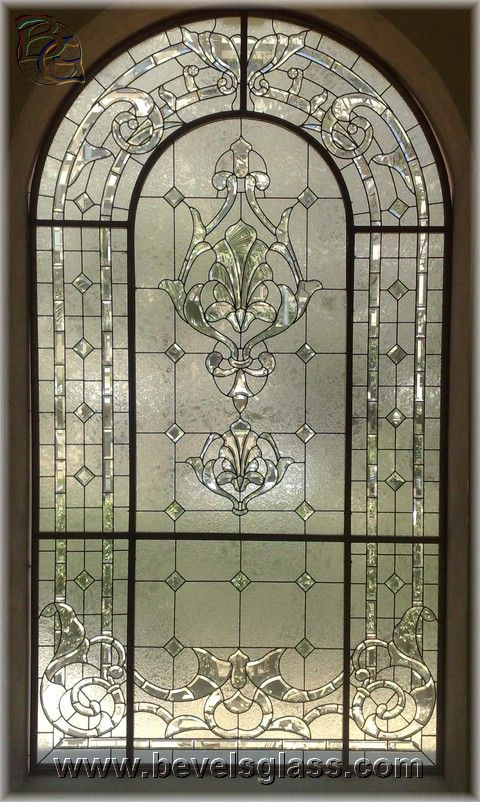 beautiful beveled window, ok, so it's not stained glass but it is gorgeous