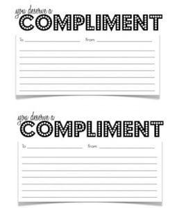 compliment slips templates