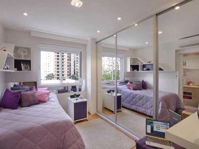 O espelho é um grande aliado quando o espaço é pequeno.  www.decorarepreciso.com.br/blog  #decorarepreciso