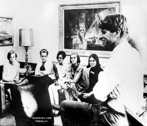 Bobby Kennedy and his much-apprieciated Boiler Room Girls. They were called by this friendly nickname because they worked in the dark, windowless mechanical room of Bobby's presidential campaign building. Mary Jo Kopechne, who was killed a year after...