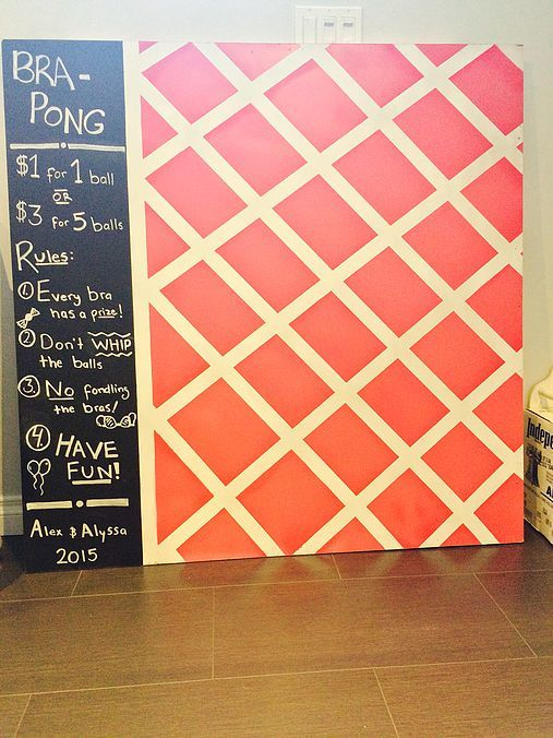 DIY BRA PONG: STAG AND DOE PARTY GAME