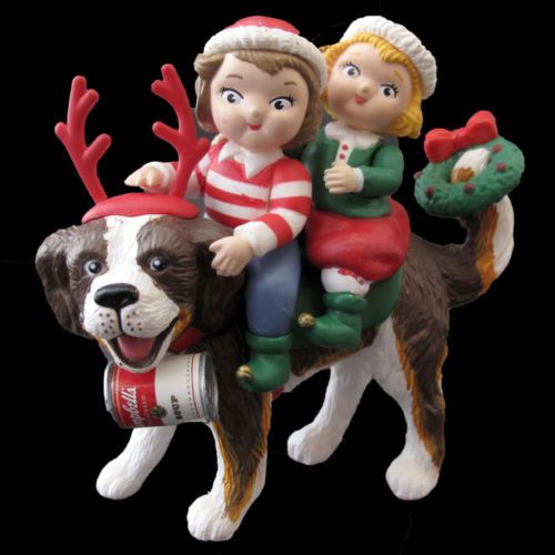 CAMPBELL KIDS RIDING THEIR  ST BERNARD | CHRISTMAS ORNAMENT 1994 | #CandoCollectibles  Price: US$14.99