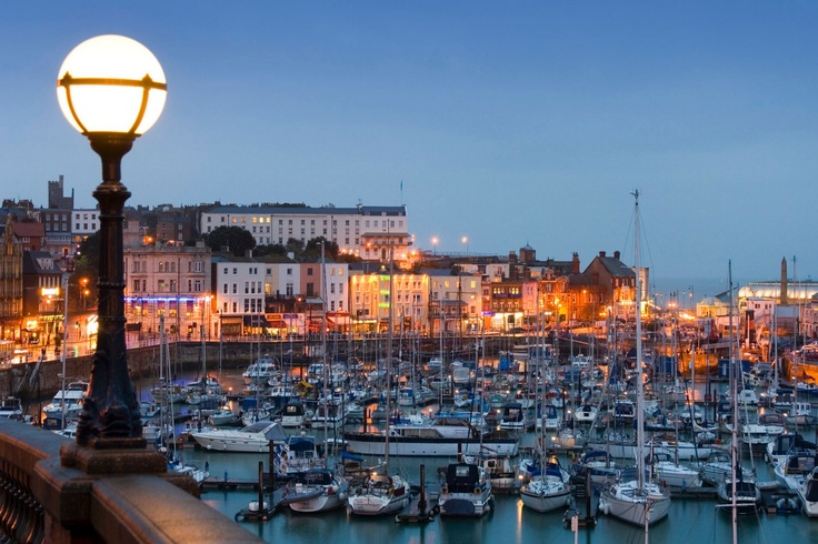 Ramsgate Harbour at dusk, England...have been , but want to again !