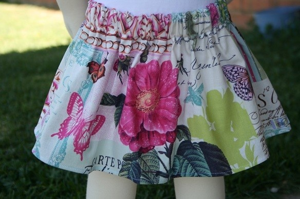Girls skirt made from pre-washed 100% cotton fabric