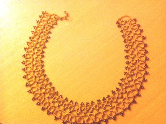 Yellow mustard necklace by StellaGshop on Etsy