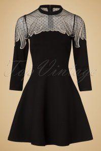 Minueto Angel Dress in Black 102 10 18844 20161004 0011w