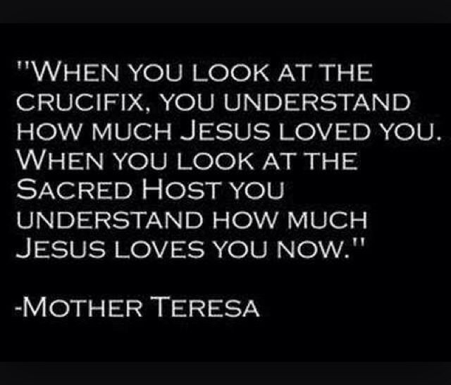 Image result for when you look at the crucifix mother teresa
