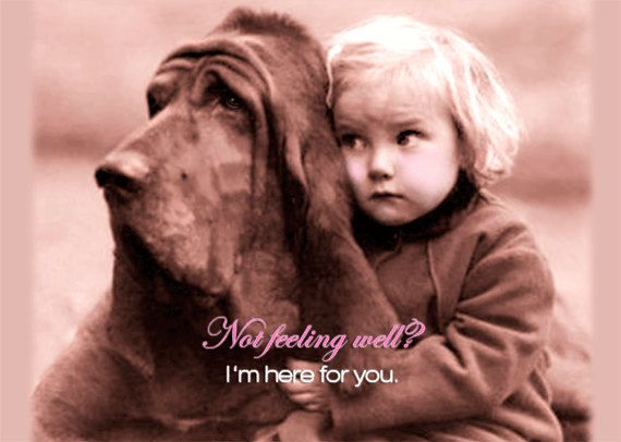 I'm here for you Greeting Card Take Care Bloodhound by roxy5235, $3.99 #bloodhound #getwell # dogandgirl
