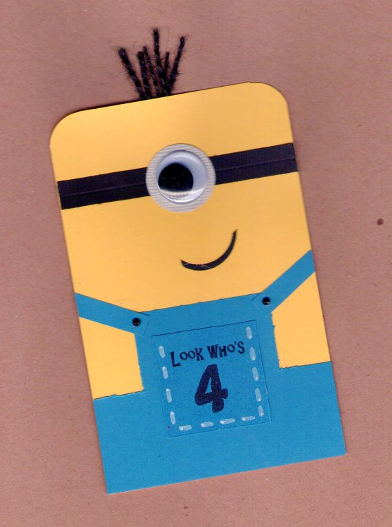Minion Birthday Card by BongelBlessings on Etsy