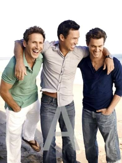 Loved this photo of the USA stars  Matt Bomber - White Collar Jeffrey Donovan - Burn Notice Mark Feuerstein - Royal Pains