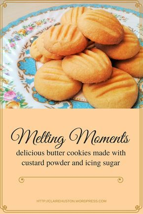 My recipe for melting moments. These are butter biscuits / cookies made from custard powder and icing sugar. After a satisfying initial crunch they melt away in all their deliciousness.