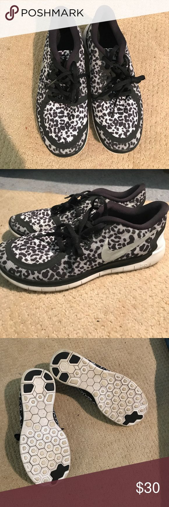 Nike Free 5.0 Running Shoe I'm now an Adidas Athlete so I can no longer where Nike shoes. I loved these Cheetah Print Frees. I'm a Women's 7 and these Kid's 5.5 fit great. Nike Shoes Athletic Shoes
