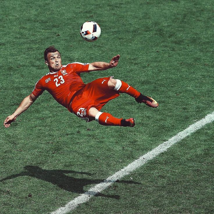 Simply stunning. @shaqirixherdan scores the goal of the tournament #EURO2016.  The jersey, cleats, and ball all available now at the link in the bio #soccerdotcom #shaqiri