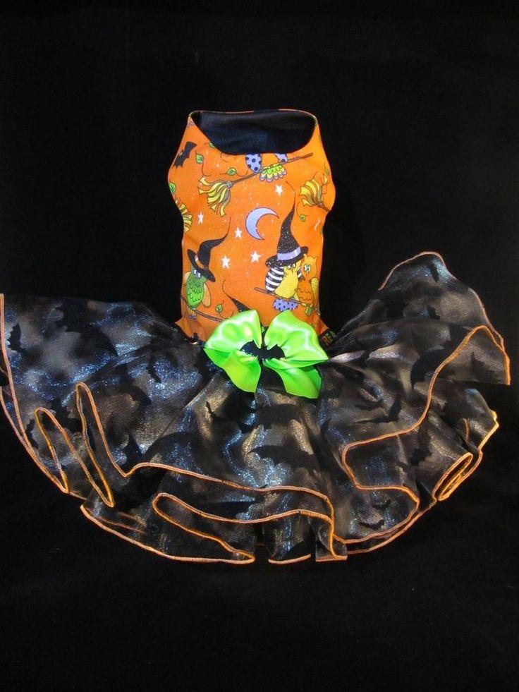 NEW Bats n Bats Dog Dress SMALL _ Dog Clothes _ Halloween Dog Dress #handmade