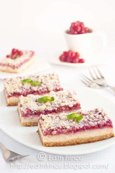 batoane de cheesecake cu zmeura 1
