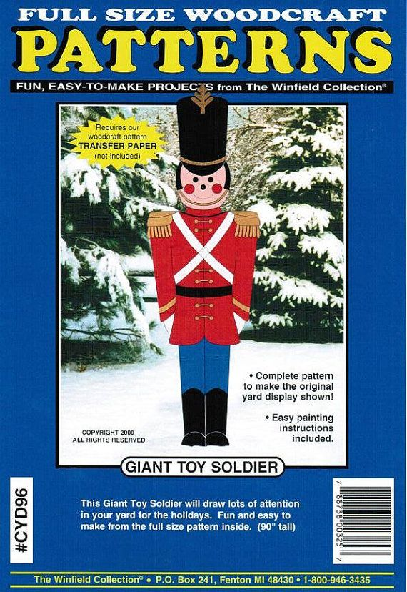 Giant Toy Soldier Christmas Yard Art Woodworking by paulitransfers, $10.50