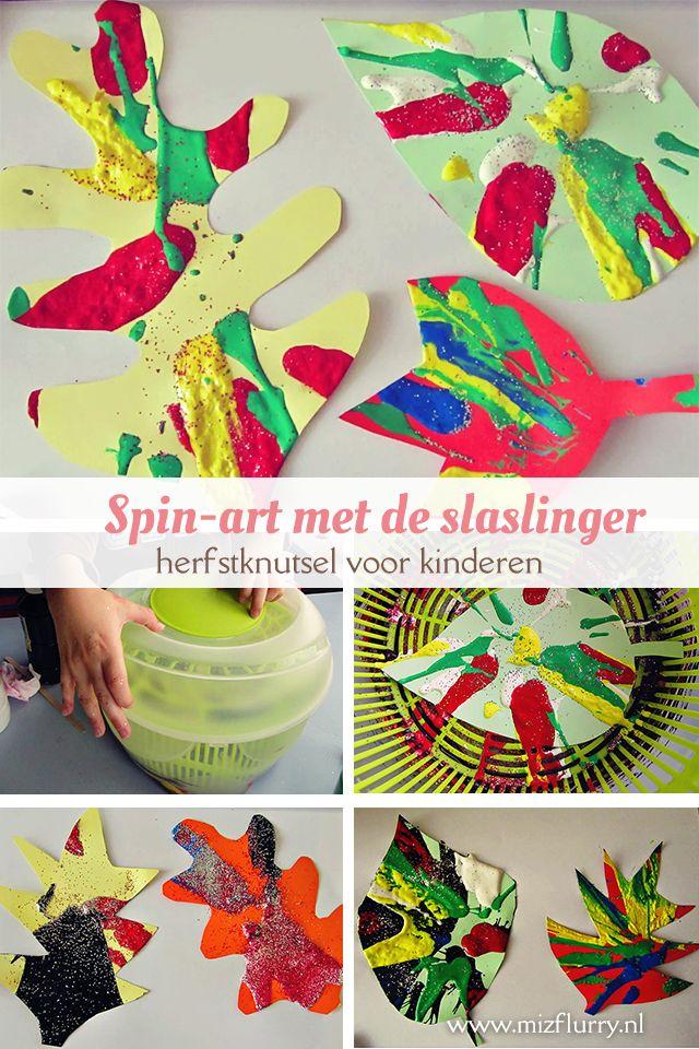 Leuke herfstknutsel voor kinderen: schilder met de slaslinger en maak spin-art…