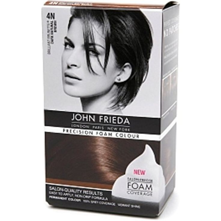 John Frieda Precision Foam Colour Brilliant Brunette (Dark Natural Brown) 4N 1 Each (Pack of 4) *** Visit the image link more details. (This is an affiliate link and I receive a commission for the sales)