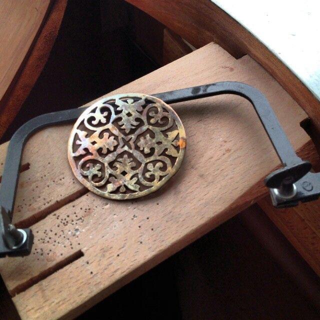 Rumi design hand cut coper motif