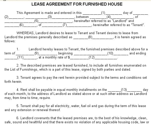 Lease Agreement for Furnished House. 8 best Lease Agreements images on Pinterest