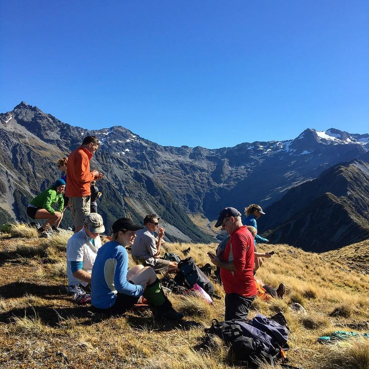 Top of the world. Hiking New Zealand's lunch break