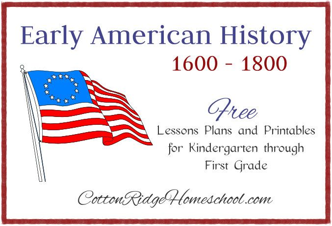 Early American History: Jamestown and Pocohontas ~ Week 1 Lesson Plan for Kindergarten and First Grade
