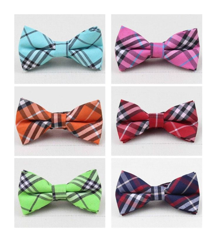 Plaid+Pet+BowTies+    Collar:+10.5''-17''+approx.  Bow:+3.5''+x+2''  *+Pattern+may+slightly+vary++between+bowties    Material:+Polyester,+Cotton,+Plastic+Clip+Closure+    Condition:+Brand+New+