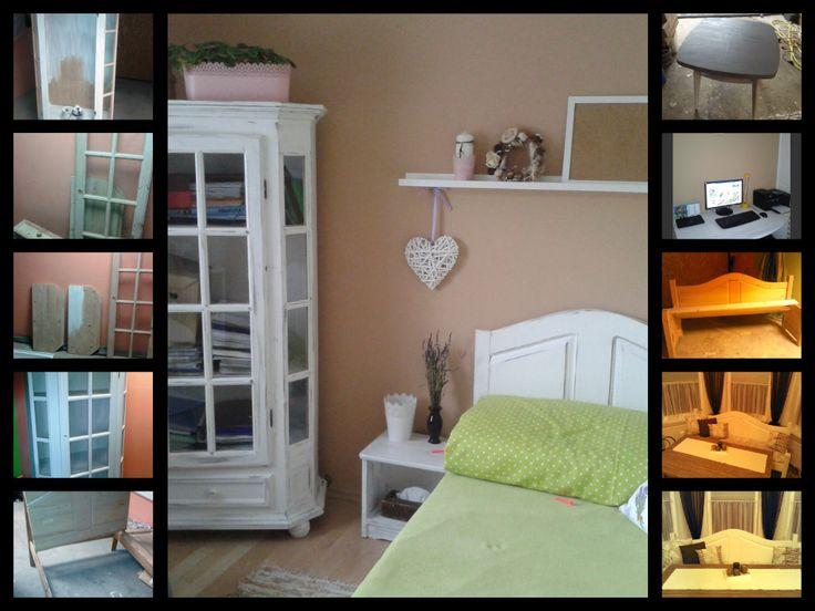 Moja tvorba ...from old furniture new ...zo starého nábytku som si urobila novú izbu pre hostí.