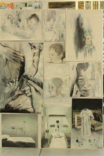 NCEA level three painting - folio board one