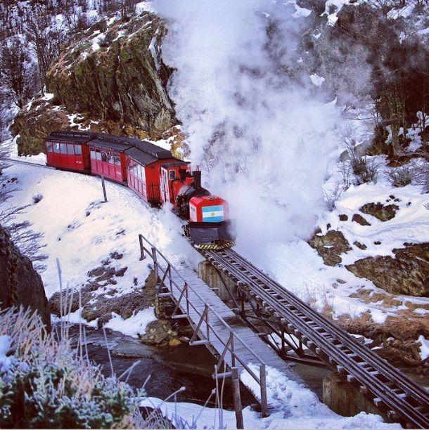 El tren del Fin del Mundo. Ferrocarril Austral Fueguino.
