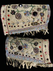 Antique Native American Legging Wristband Deer Skin Beads Indian Beadwork   eBay