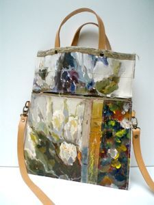 A series of unique, leather handled carry bags made by hand using vintage oil paintings sourced exclusively from markets in Holland and Belgium. Each bag tells its own story through the juxtaposition of timeworn painted canvases, making each one a distinctive piece of functional, wearable art.Hand Bags, Shoulder Bags, Art Bags, Handbags, Carrie Bags, Stunning Bags, Painting Bags, Leather Bags, Hands Bags