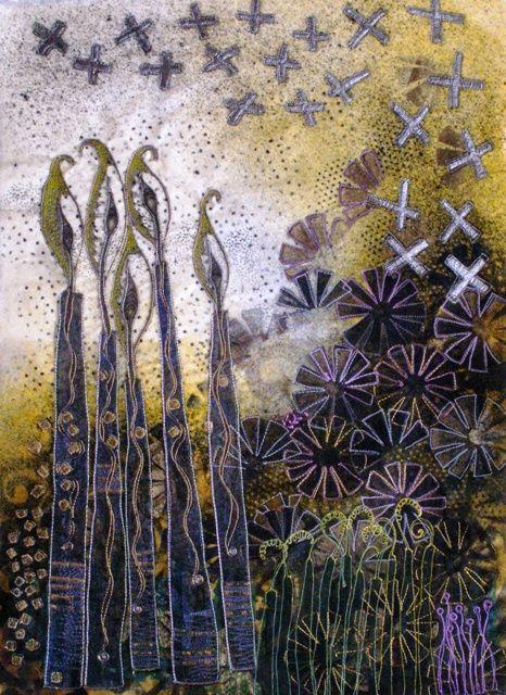 Angie Hughes. Bird garden Series.