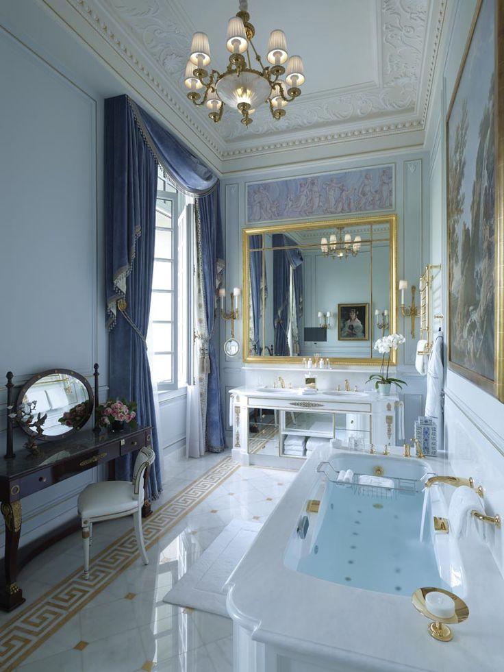 La Suite Impériale - Bathroom - Shangri-La Hotel, Paris ~ Colette Le Mason @}-,-;--