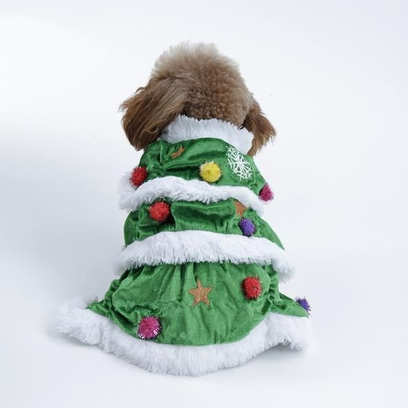 Dog Apparel Christmas Tree Costume 7 Sizes Cat Costume Accessories Christmas Tree Costume Dog Clothes