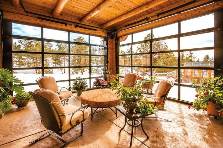 Garage-Door Styles That Work Indoors - WSJ | Wayne Dalton aluminum glass garage doors featured on WSJ website | Learn more about these doors here: http://www.wayne-dalton.com/residential/contemporary-aluminum/Pages/default.aspx