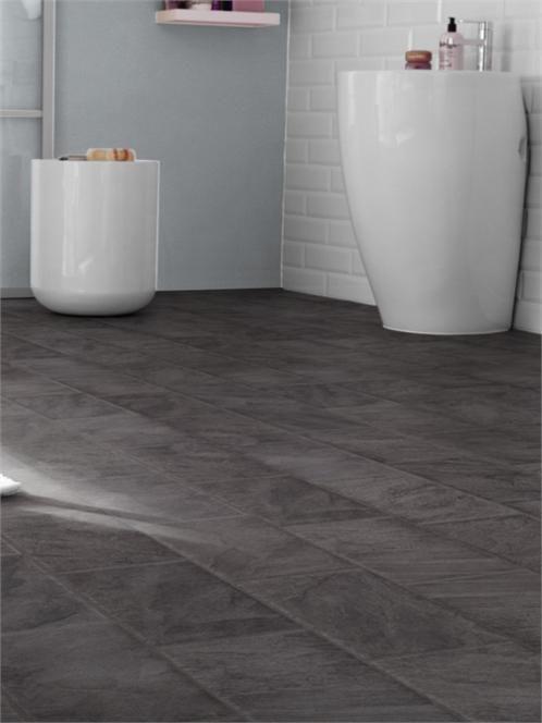 SAMPLE ORDERED 28/12/216 - Westco 8mm Anthracite Slate Tile Effect Laminate Flooring