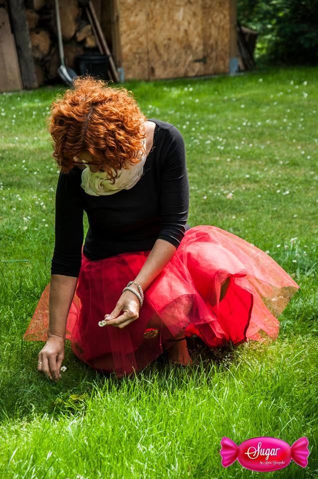 """""""Księżniczkowa"""" spódnica- bawełniana podszewka, 1 warstwa marszczonego tiulu, na gumce. Princess dress"""