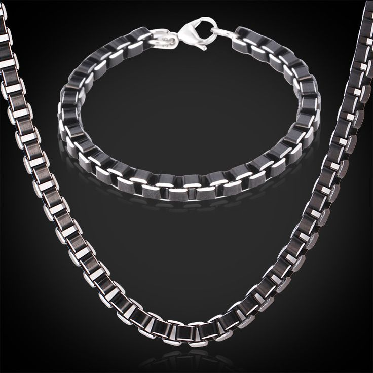 Cheap Jewelry Sets, Buy Directly from China Suppliers:                      Black Necklace Bracelet Jewelry Set For Men Chain Free Shipping Aluminum Alloy Trendy Box Ch