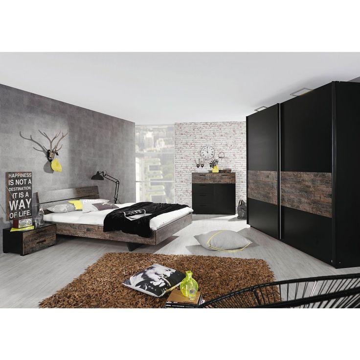 Schlafzimmerset Sumatra I - Schwarz / Vintage Braun - Liegefläche Bett: 180 x 200cm, Rauch Select Jetzt bestellen unter: https://moebel.ladendirekt.de/schlafzimmer/komplett-schlafzimmer/?uid=8cd490e8-e632-5139-ad0a-0c27bfe3f71b&utm_source=pinterest&utm_medium=pin&utm_campaign=boards #möbel #komplettschlafzimmer #select #schlafzimmersets #schlafzimmer #rauch