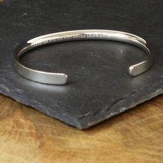 silver personalised men's bracelet by hersey silversmiths | notonthehighstreet.com