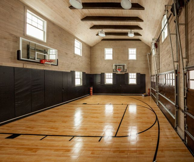 2196 best backyard images on pinterest backyard ideas for Home indoor basketball court cost