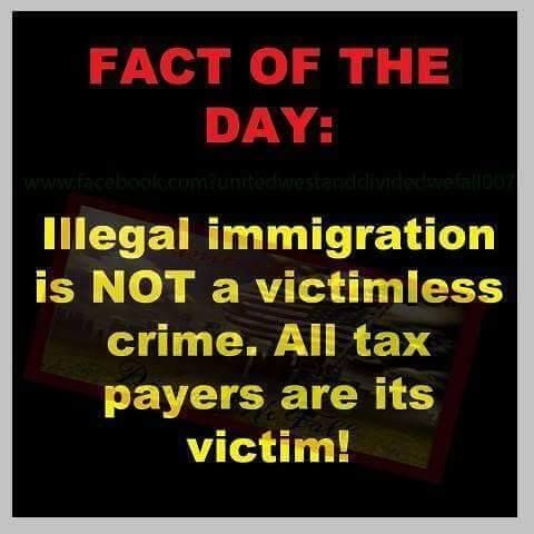 This idiot meme seems to imply that it's only criminal when government takes your money and gives it to illegal immigrants, which is BS.