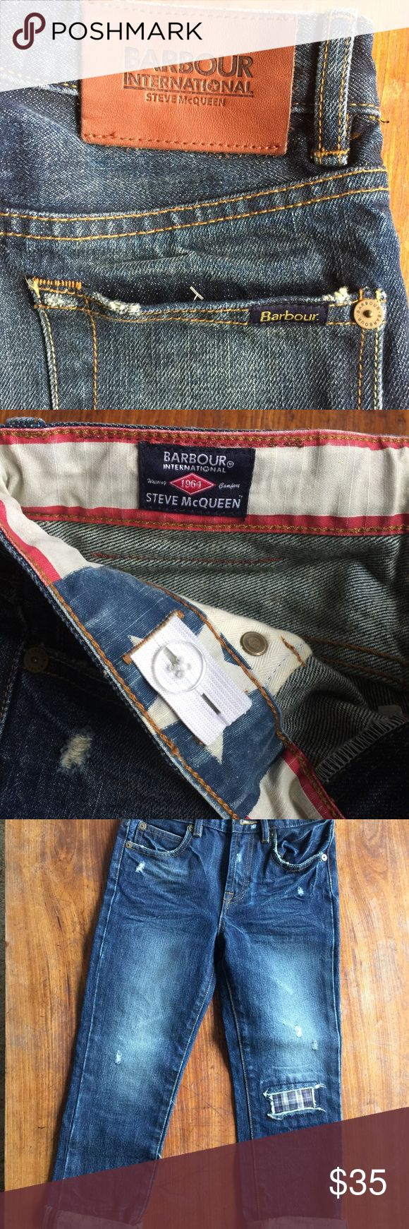 """NWOT Barbour Kids Jeans The Barbour Steve Mcqueen™ Collection was launched at the Italian stockist WP Lavori, Florence. My husband bought them for our daughter last year, she never wore them, she went/is going through a """"no jeans"""" phase. Our loss is your gain! Barbour Bottoms Jeans"""