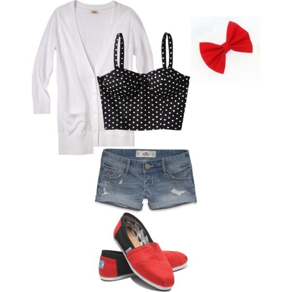 Girly Summer Outfit - Polyvore | My Style | Pinterest