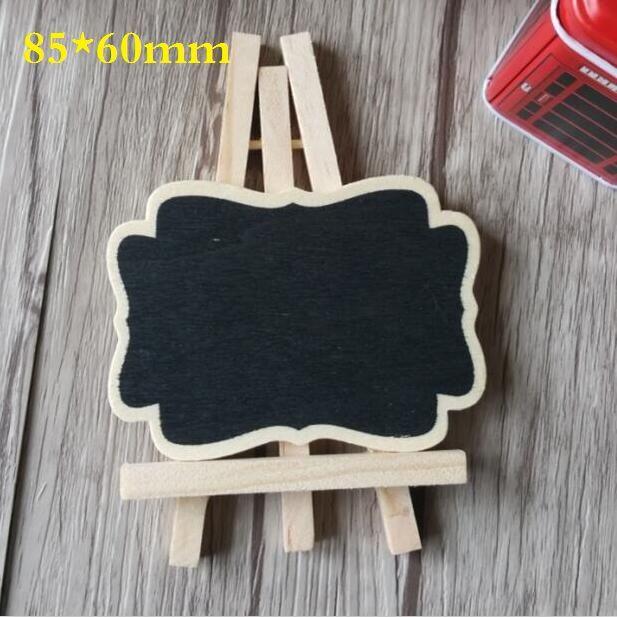 1 pcs/lot 85*60mm Nouveau Zakka Vintage en bois mini tableau noir ensemble avec trépied DIY outils Doux Enseignement Papeterie